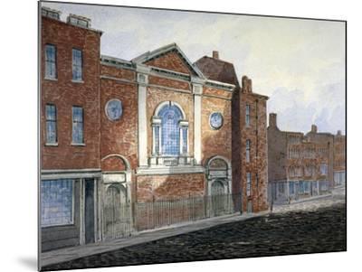 Church of St Alfege, London Wall, London, C1814-William Pearson-Mounted Giclee Print