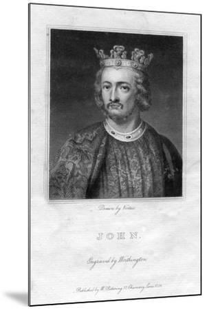 King John of England- Worthington-Mounted Giclee Print