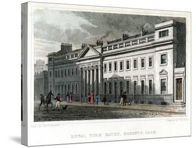 Royal York Baths, Regents Park, London, 1828-WR Smith-Stretched Canvas Print