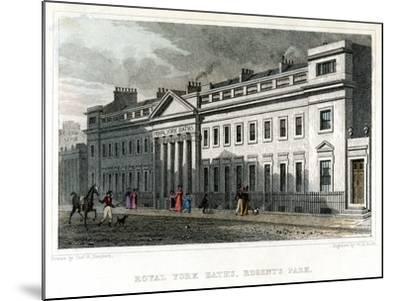 Royal York Baths, Regents Park, London, 1828-WR Smith-Mounted Giclee Print