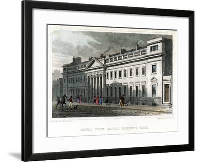 Royal York Baths, Regents Park, London, 1828-WR Smith-Framed Giclee Print