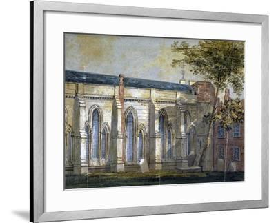 View of Temple Church, London, C1810-William Pearson-Framed Giclee Print