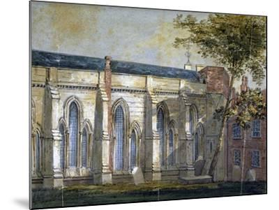 View of Temple Church, London, C1810-William Pearson-Mounted Giclee Print