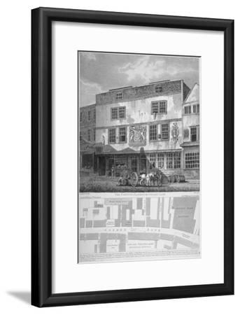 The Fortune Theatre, Golden Lane, City of London, 1811-William Wise-Framed Giclee Print