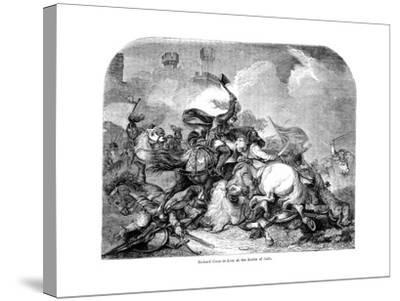 King Richard I (1157-119) at the Battle of Jaffa, 1192--Stretched Canvas Print
