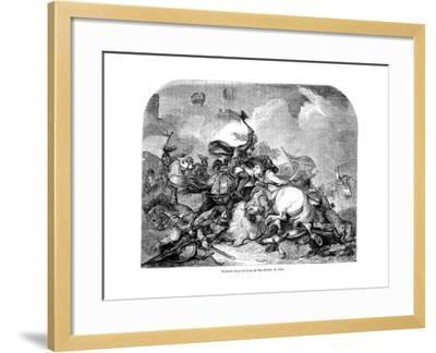King Richard I (1157-119) at the Battle of Jaffa, 1192--Framed Giclee Print