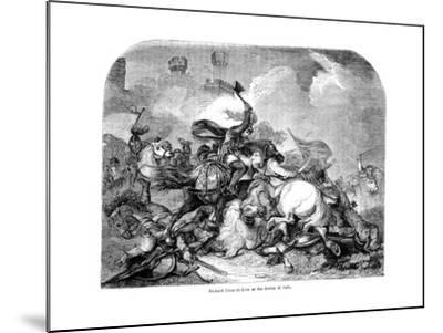 King Richard I (1157-119) at the Battle of Jaffa, 1192--Mounted Giclee Print