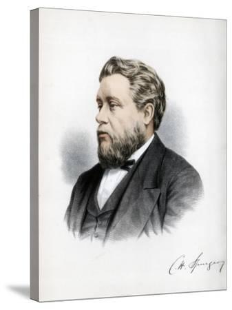 Charles Haddon Spurgeon, British Baptist Preacher, C1890-Petter & Galpin Cassell-Stretched Canvas Print
