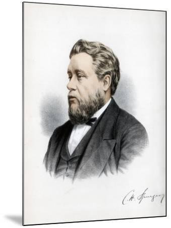 Charles Haddon Spurgeon, British Baptist Preacher, C1890-Petter & Galpin Cassell-Mounted Giclee Print