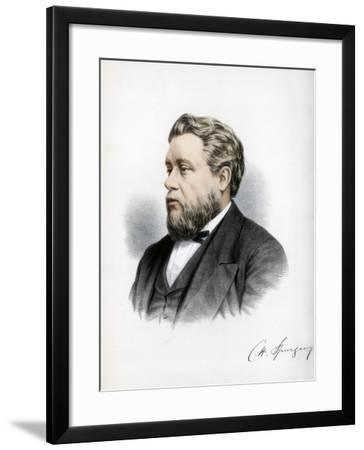 Charles Haddon Spurgeon, British Baptist Preacher, C1890-Petter & Galpin Cassell-Framed Giclee Print