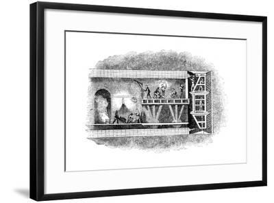 Construction of the Thames Tunnel, London, 1825-1843--Framed Giclee Print