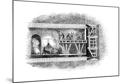 Construction of the Thames Tunnel, London, 1825-1843--Mounted Giclee Print