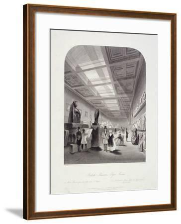 The Elgin Room, British Museum, Holborn, London, C1850-William Radclyffe-Framed Giclee Print