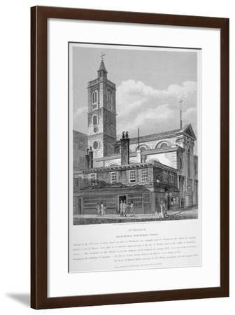 View of St Dionis Backchurch from Fenchurch Street, City of London, 1813-William Wise-Framed Giclee Print