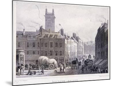 Holborn Bridge, London, C1830-William Woolnoth-Mounted Giclee Print