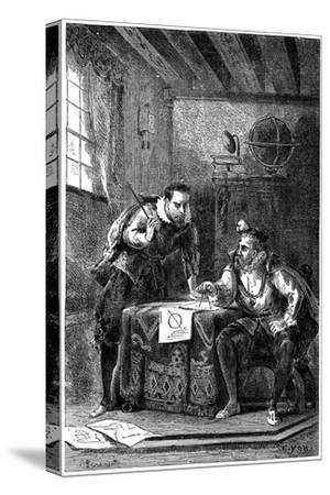 Kepler and Brahe at Work Together (C160), C1870--Stretched Canvas Print