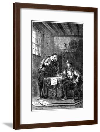 Kepler and Brahe at Work Together (C160), C1870--Framed Giclee Print