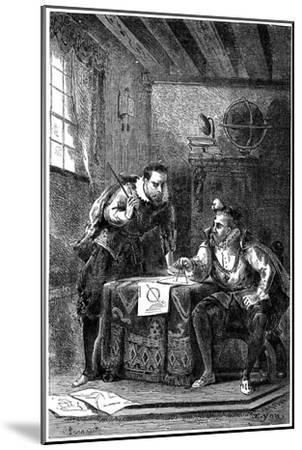 Kepler and Brahe at Work Together (C160), C1870--Mounted Giclee Print
