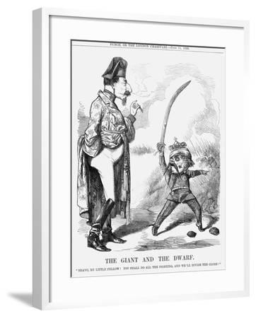 The Giant and the Dwarf, 1859--Framed Giclee Print