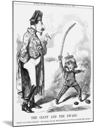 The Giant and the Dwarf, 1859--Mounted Giclee Print
