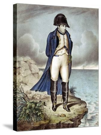 Napoleon I, Emperor of France, in Exile--Stretched Canvas Print