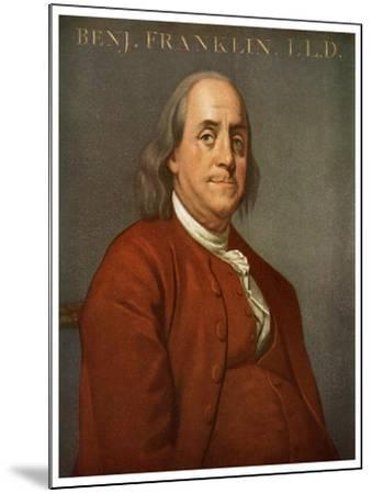 Benjamin Franklin, American Scientist and Politician, 1782-Joseph of Derby Wright-Mounted Giclee Print