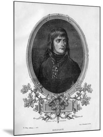 Napoleon Bonaparte, French General and Emperor, 1862 (1882-188)-Charaire et fils-Mounted Giclee Print