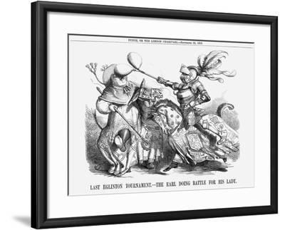 Last Eglinton Tournament. - the Earl Doing Battle for His Lady., 1858--Framed Giclee Print
