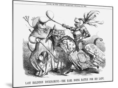 Last Eglinton Tournament. - the Earl Doing Battle for His Lady., 1858--Mounted Giclee Print