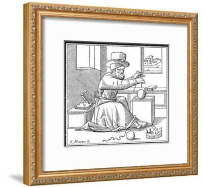 Archimedes (C287-212 B), Ancient Greek Mathematician and Inventor, 1866--Framed Giclee Print