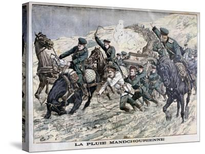 In the Mud of Manchuria, Russo-Japanese War, 1904--Stretched Canvas Print