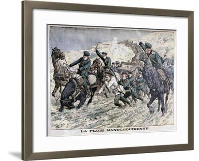 In the Mud of Manchuria, Russo-Japanese War, 1904--Framed Giclee Print