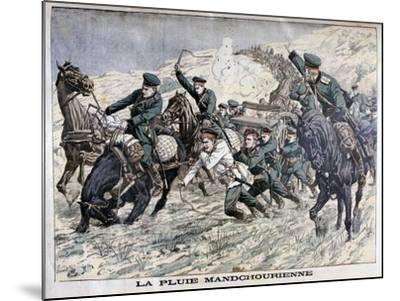 In the Mud of Manchuria, Russo-Japanese War, 1904--Mounted Giclee Print