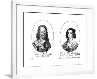 King Charles I (1600-164) and Queen Henrietta Maria (1609-166)--Framed Giclee Print