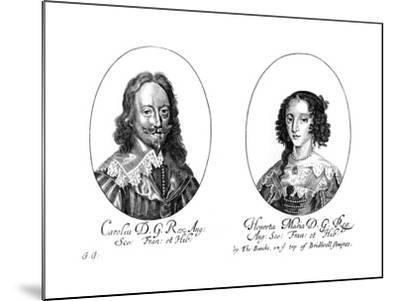 King Charles I (1600-164) and Queen Henrietta Maria (1609-166)--Mounted Giclee Print