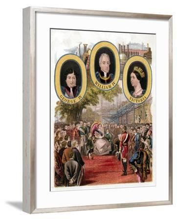 Queen Victoria Opening the Great Exhibition, Crystal Palace, London, May 1851--Framed Giclee Print