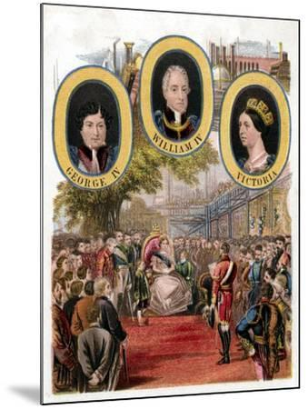 Queen Victoria Opening the Great Exhibition, Crystal Palace, London, May 1851--Mounted Giclee Print