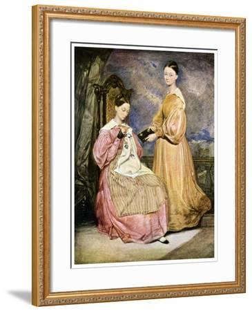 Florence Nightingale, British Nurse and Hospital Reformer, C1836-William White-Framed Giclee Print