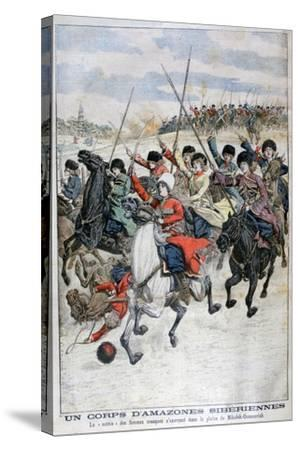 Female Siberian Cossack Cavalry Corps, Russo-Japanese War, 1904--Stretched Canvas Print
