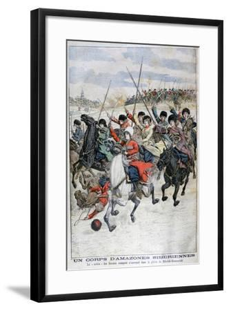 Female Siberian Cossack Cavalry Corps, Russo-Japanese War, 1904--Framed Giclee Print