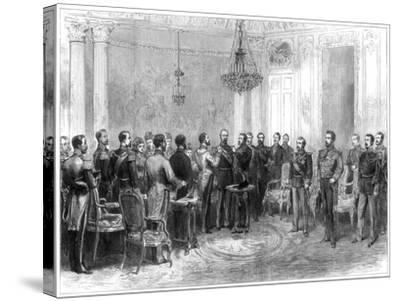 Investiture of Marshal Macmahon with the Spanish Order of the Golden Fleece, 1875--Stretched Canvas Print