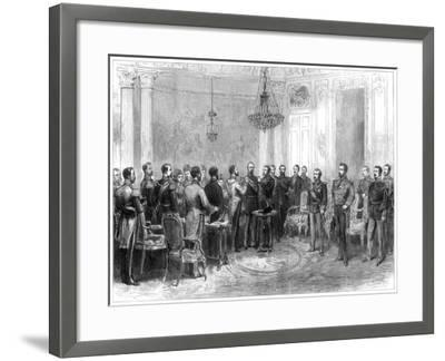 Investiture of Marshal Macmahon with the Spanish Order of the Golden Fleece, 1875--Framed Giclee Print