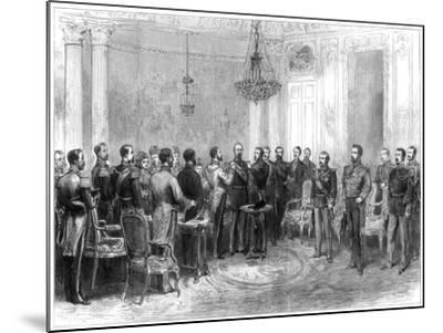 Investiture of Marshal Macmahon with the Spanish Order of the Golden Fleece, 1875--Mounted Giclee Print