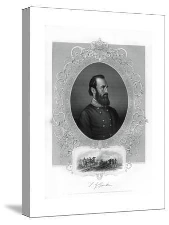 Thomas Jonathan Stonewall Jackson, Confederate General During the American Civil War, 1862-1867- Brady-Stretched Canvas Print