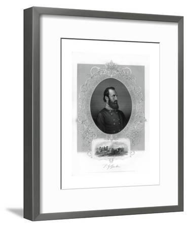 Thomas Jonathan Stonewall Jackson, Confederate General During the American Civil War, 1862-1867- Brady-Framed Giclee Print