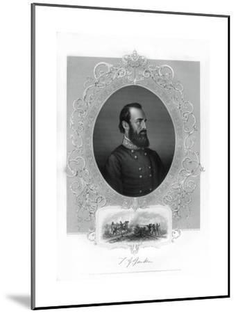 Thomas Jonathan Stonewall Jackson, Confederate General During the American Civil War, 1862-1867- Brady-Mounted Giclee Print