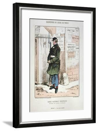 Garde Nationale Sedentaire, Siege of Paris, 1870-1871--Framed Giclee Print