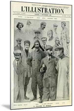 Famous Aviators, Cover of L'Illustration, 4 September 1909--Mounted Giclee Print