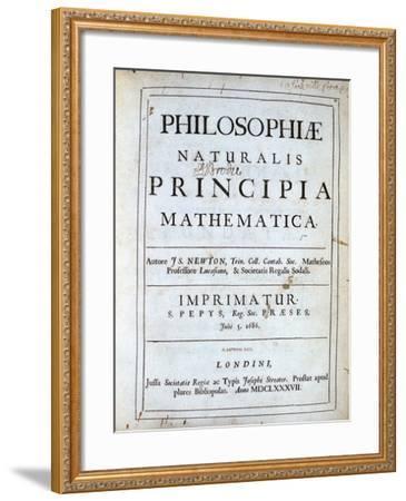 Title Page of Newton's Philosophiae Naturalis Principia Mathematica, 1687  Giclee Print by | Art com