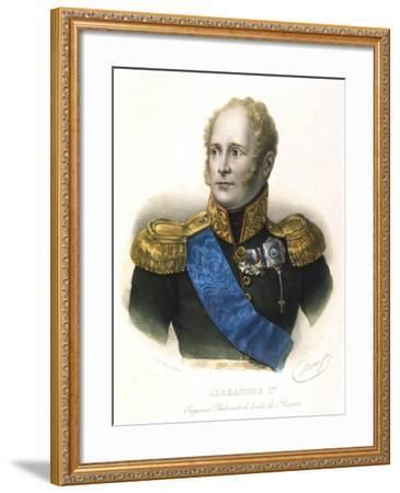Alexander I, Tsar of Russia, C1801-1825--Framed Giclee Print